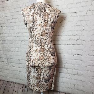 Mango Dresses - Mango snake skin dress